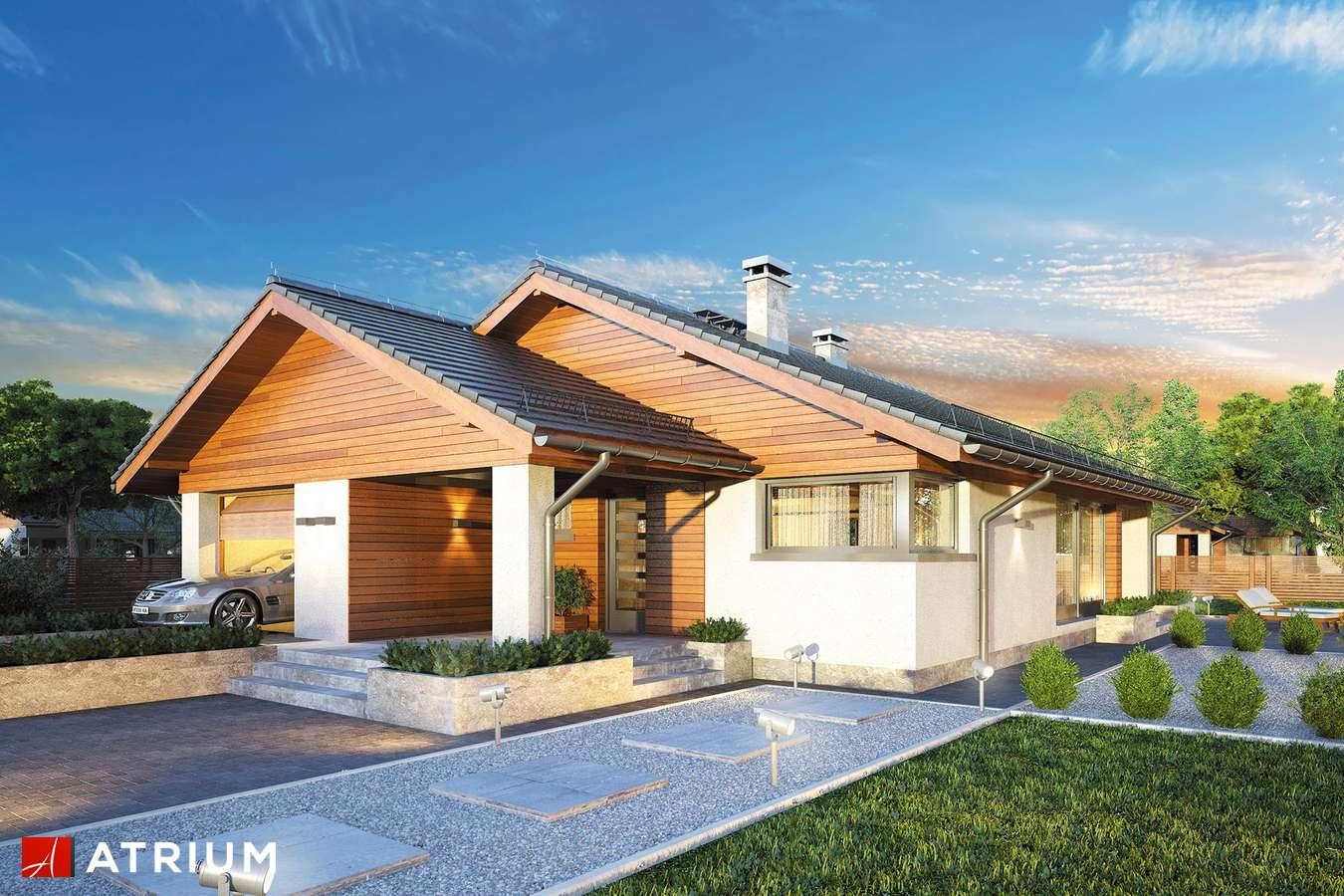 Projekty domów - Projekt domu parterowego PLISZKA IV - wizualizacja 2 - wersja lustrzana