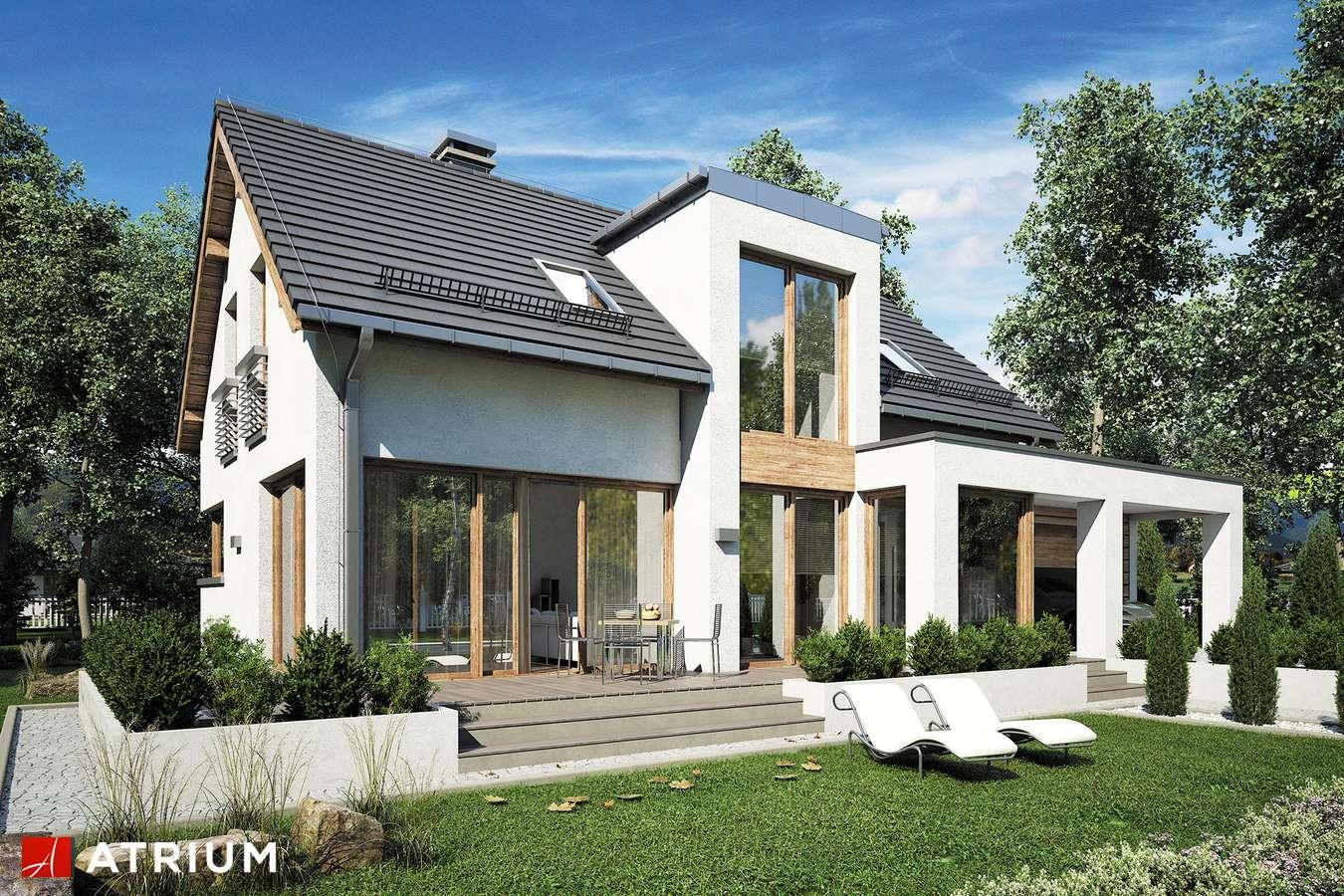Projekty domów - Projekt domu z poddaszem RUMBA III - wizualizacja 2 - wersja lustrzana