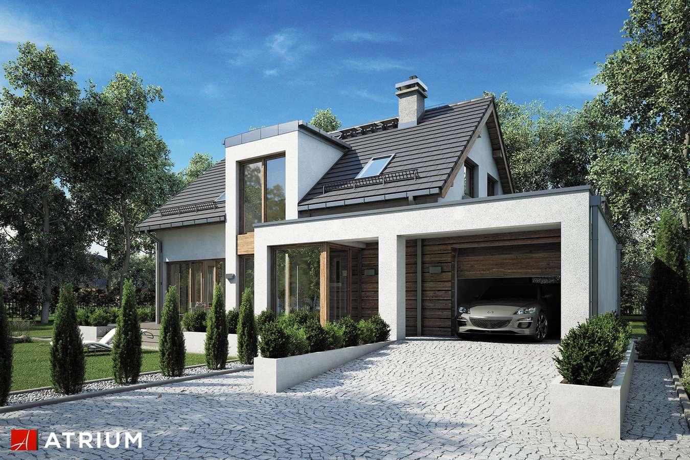 Projekty domów - Projekt domu z poddaszem RUMBA III - wizualizacja 1 - wersja lustrzana