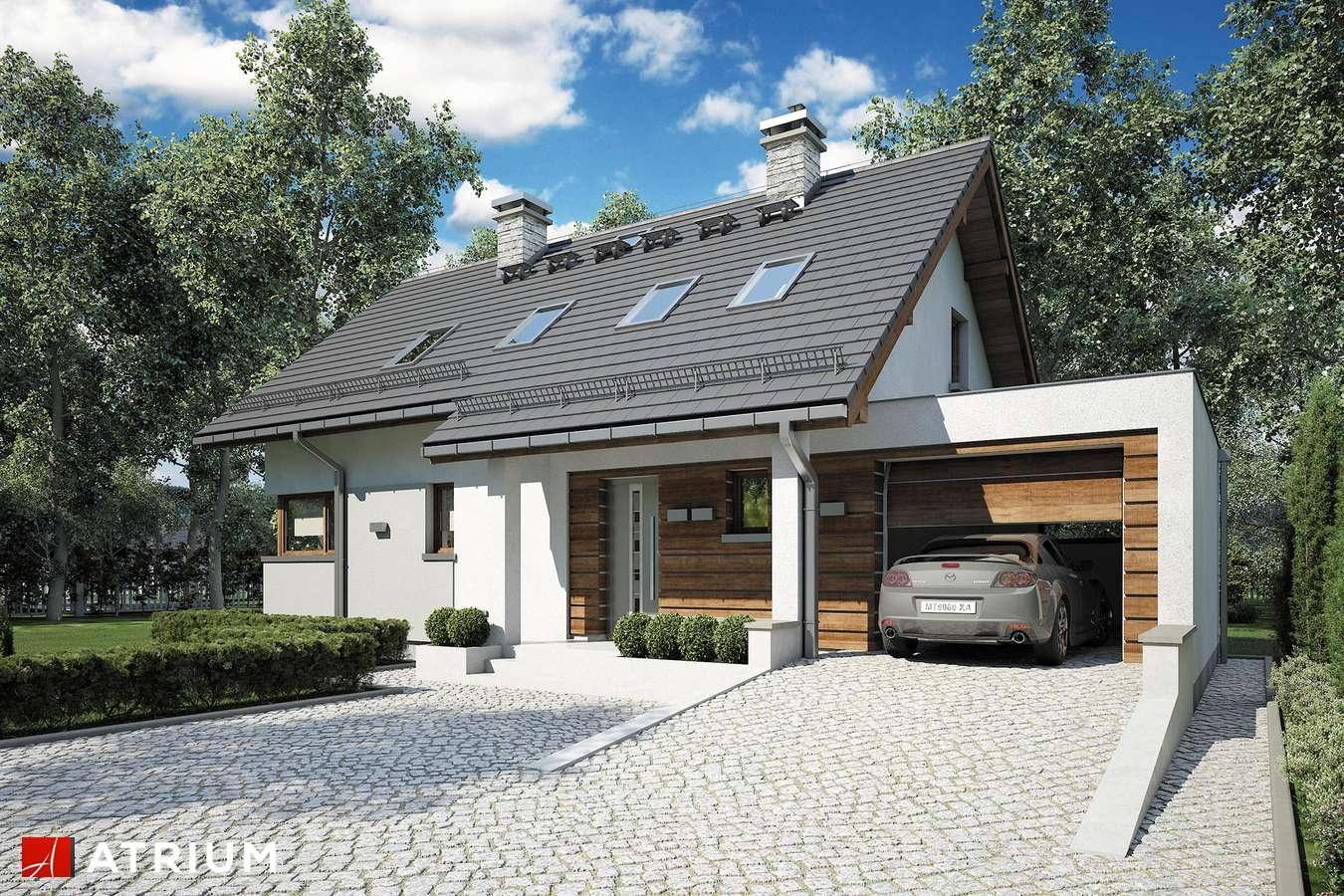 Projekty domów - Projekt domu z poddaszem RUMBA IV - wizualizacja 1 - wersja lustrzana