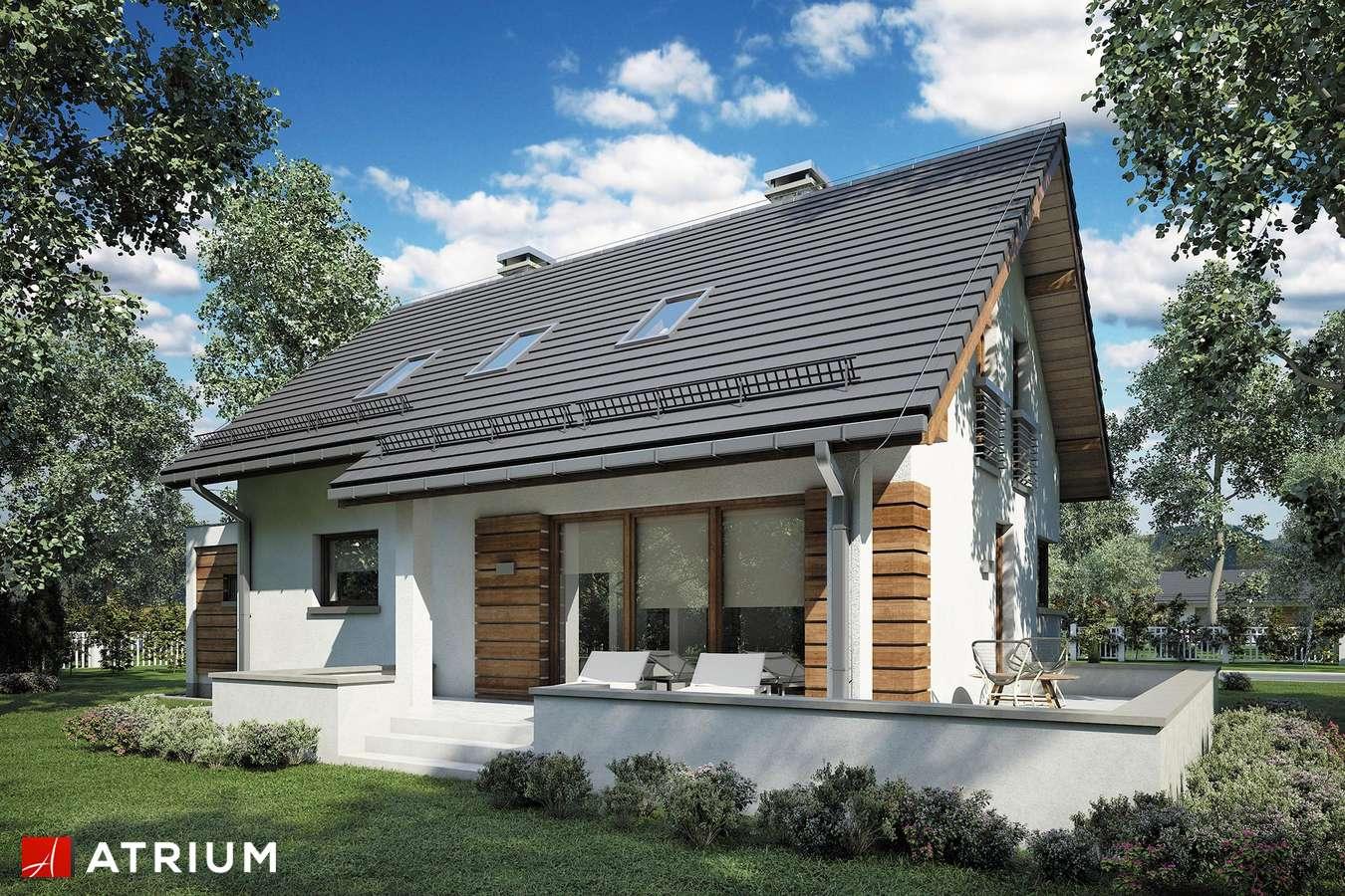 Projekty domów - Projekt domu z poddaszem RUMBA IV - wizualizacja 2 - wersja lustrzana
