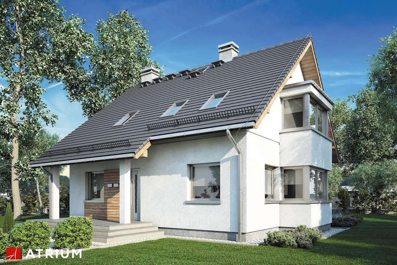Projekty domów - Projekt domu z poddaszem KOMBI - wizualizacja 1