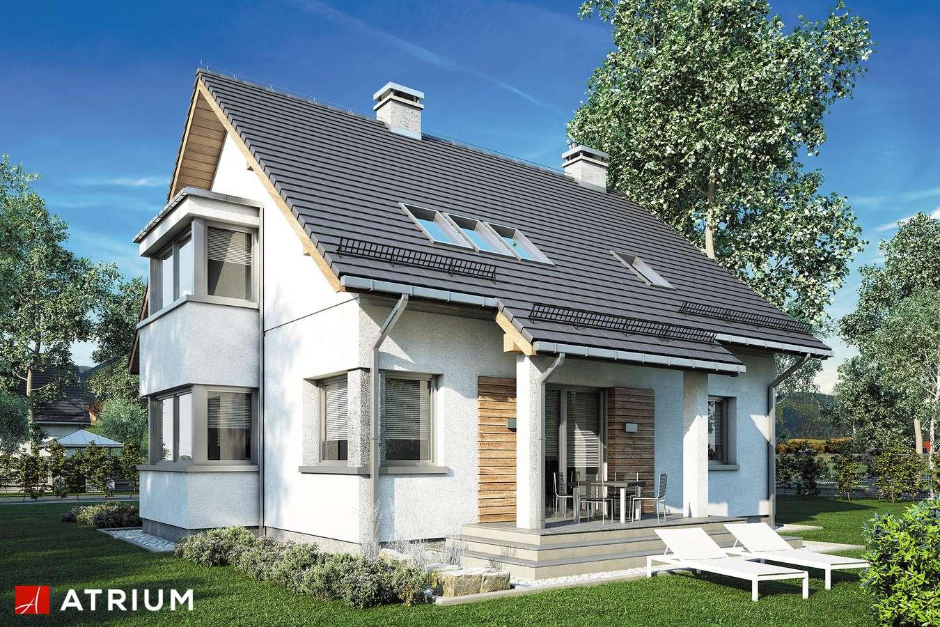 Projekty domów - Projekt domu z poddaszem KOMBI - wizualizacja 2