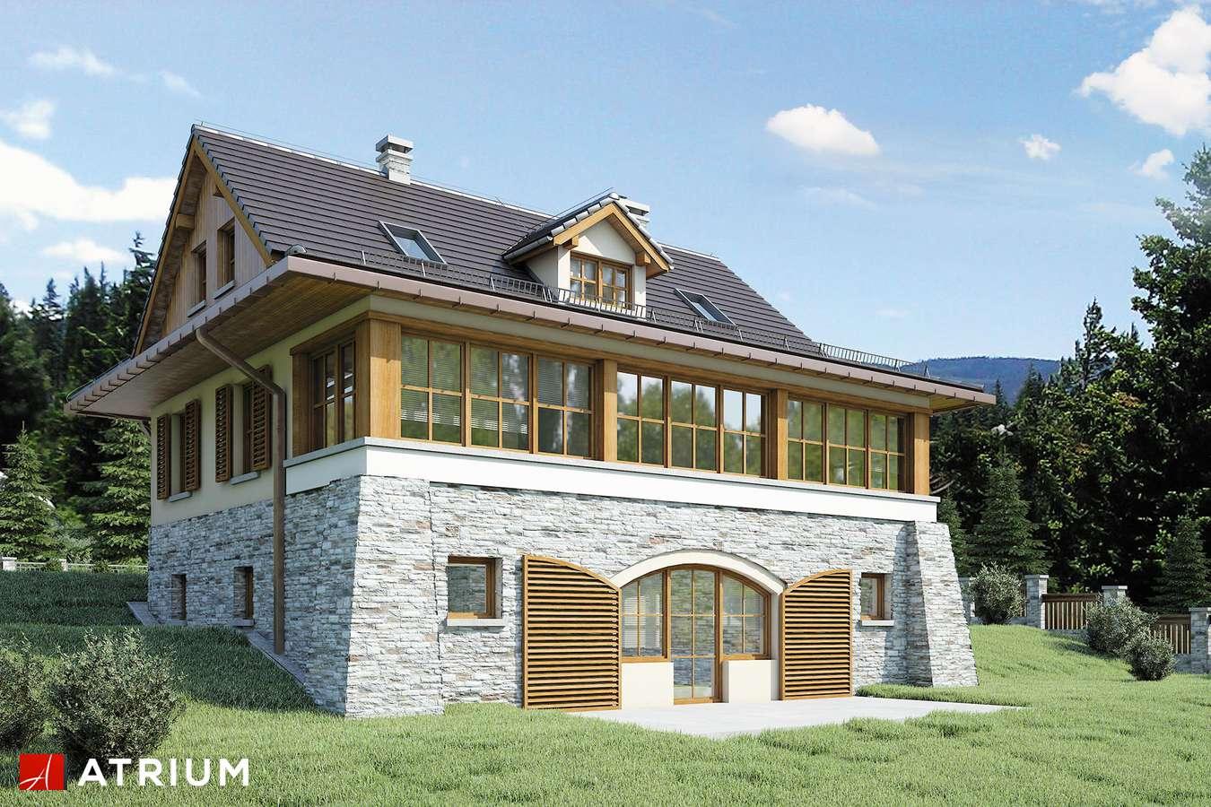 Projekty domów - Projekt domu z poddaszem MARZANKA II - wizualizacja 2