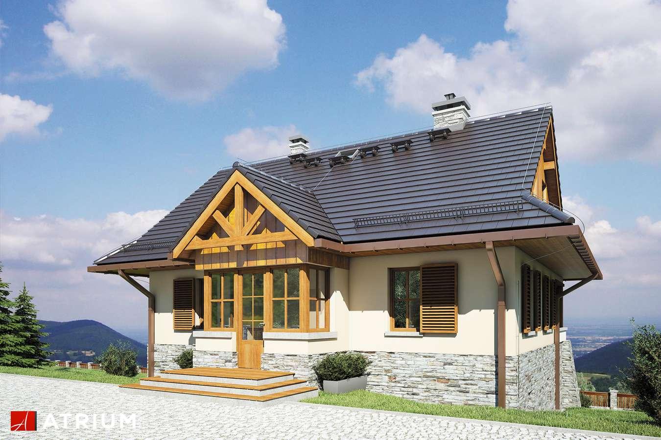 Projekty domów - Projekt domu z poddaszem MARZANKA II - wizualizacja 1 - wersja lustrzana