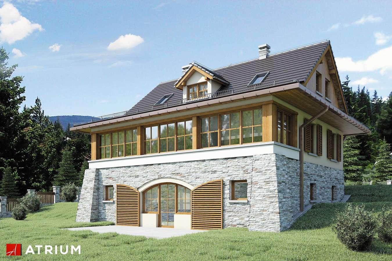 Projekty domów - Projekt domu z poddaszem MARZANKA II - wizualizacja 2 - wersja lustrzana