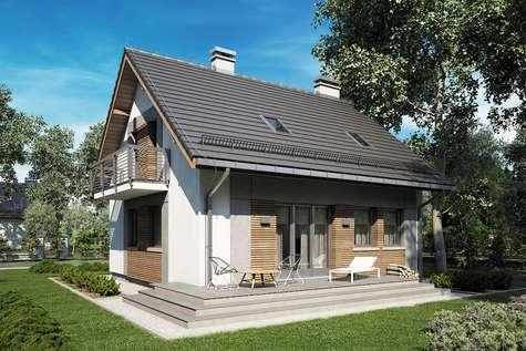 Projekt domu z poddaszem ADA III - wizualizacja 2