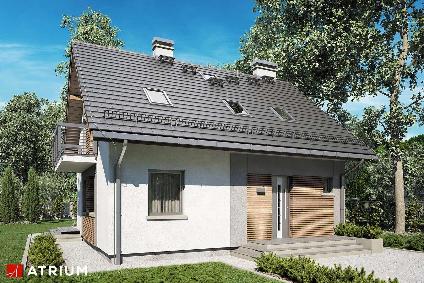 Projekty domów - Projekt domu z poddaszem ADA III - wizualizacja 1 - wersja lustrzana