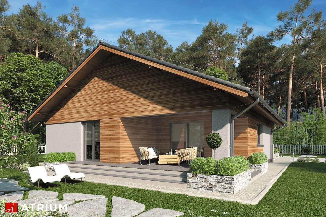 Projekty domów - Projekt domu parterowego KOS IV - wizualizacja 2