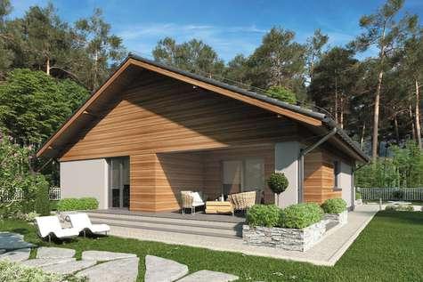 Projekt domu parterowego KOS IV - wizualizacja 2