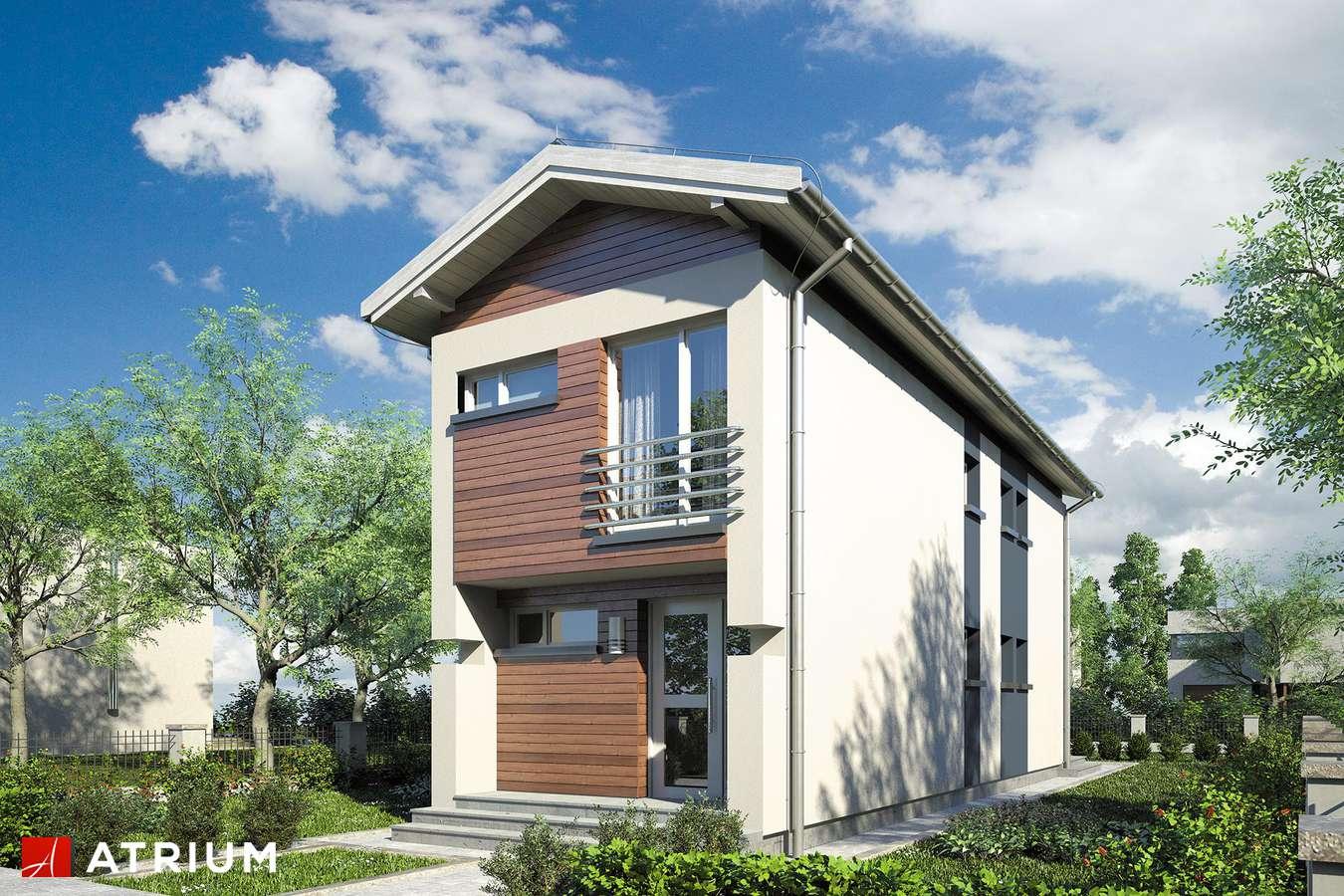 Projekty domów - Projekt domu piętrowego BUSIK - wizualizacja 1 - wersja lustrzana