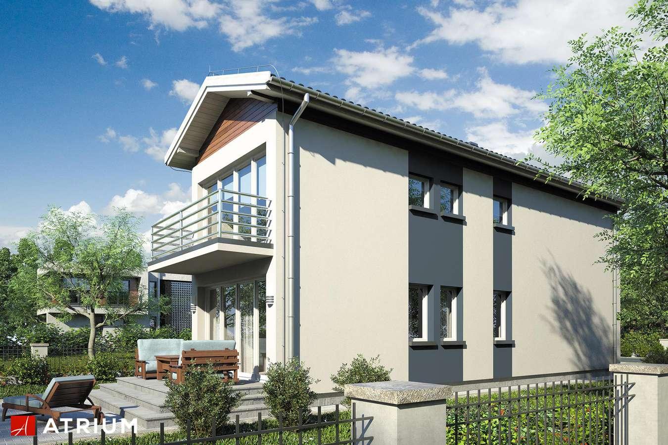 Projekty domów - Projekt domu piętrowego BUSIK - wizualizacja 2 - wersja lustrzana