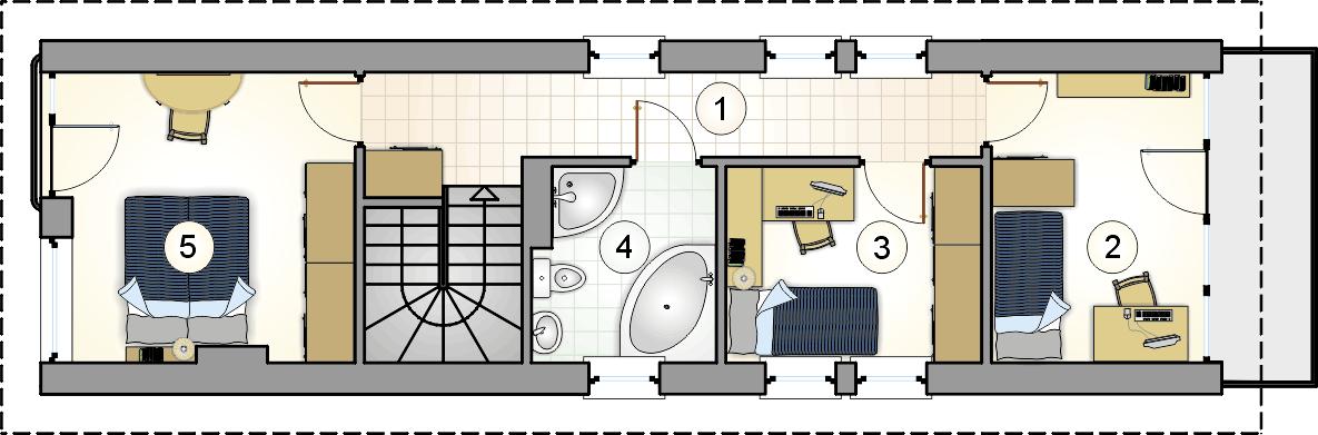 Rzut piętra - projekt Busik