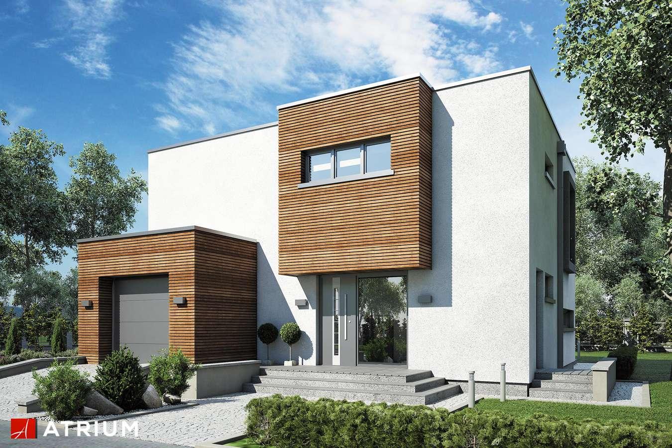 Projekty domów - Projekt domu piętrowego QUBUS III - wizualizacja 1 - wersja lustrzana