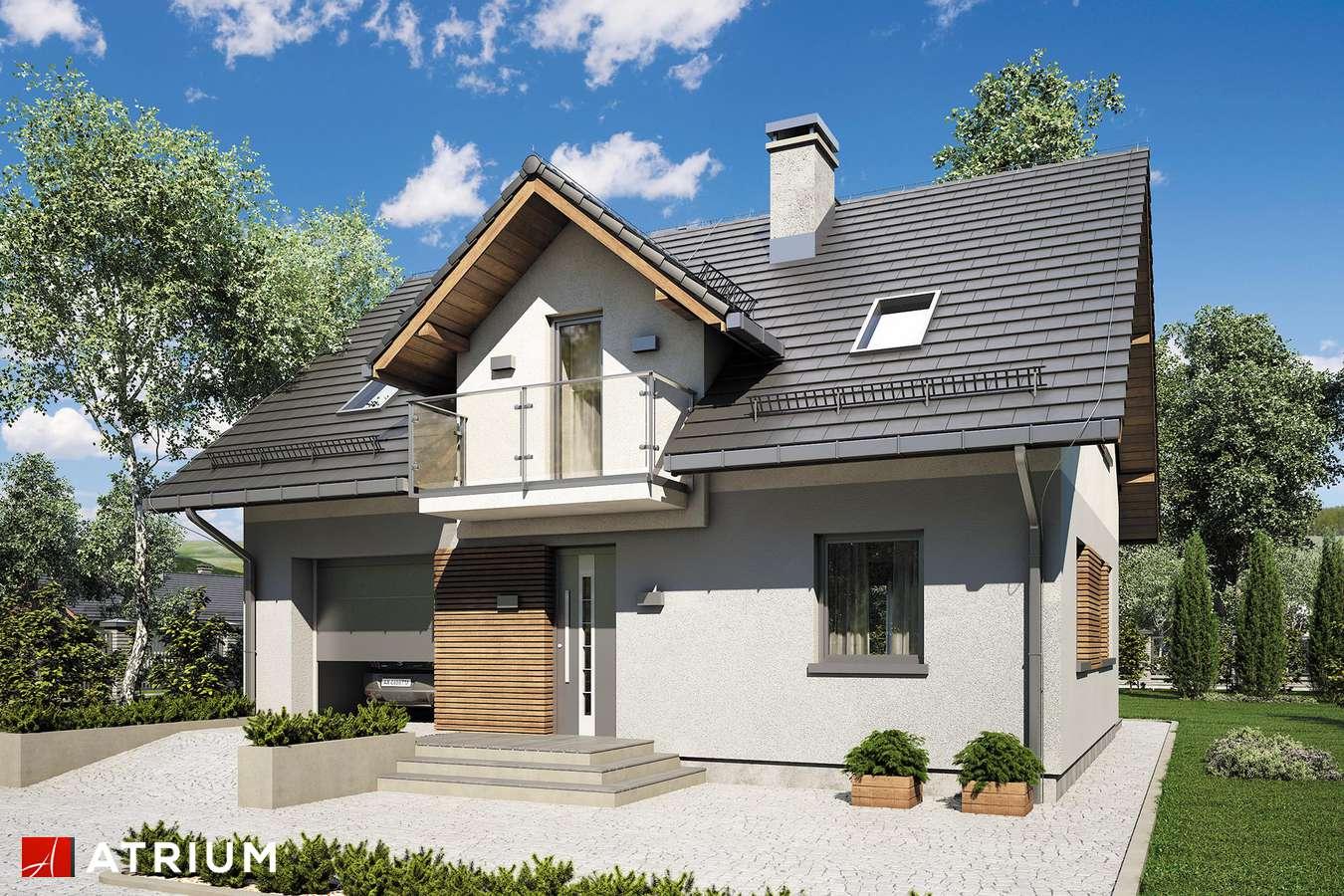 Projekty domów - Projekt domu z poddaszem COMPACT HOUSE III - wizualizacja 1