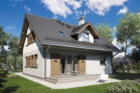 Projekt domu z poddaszem COMPACT HOUSE III - wizualizacja 2
