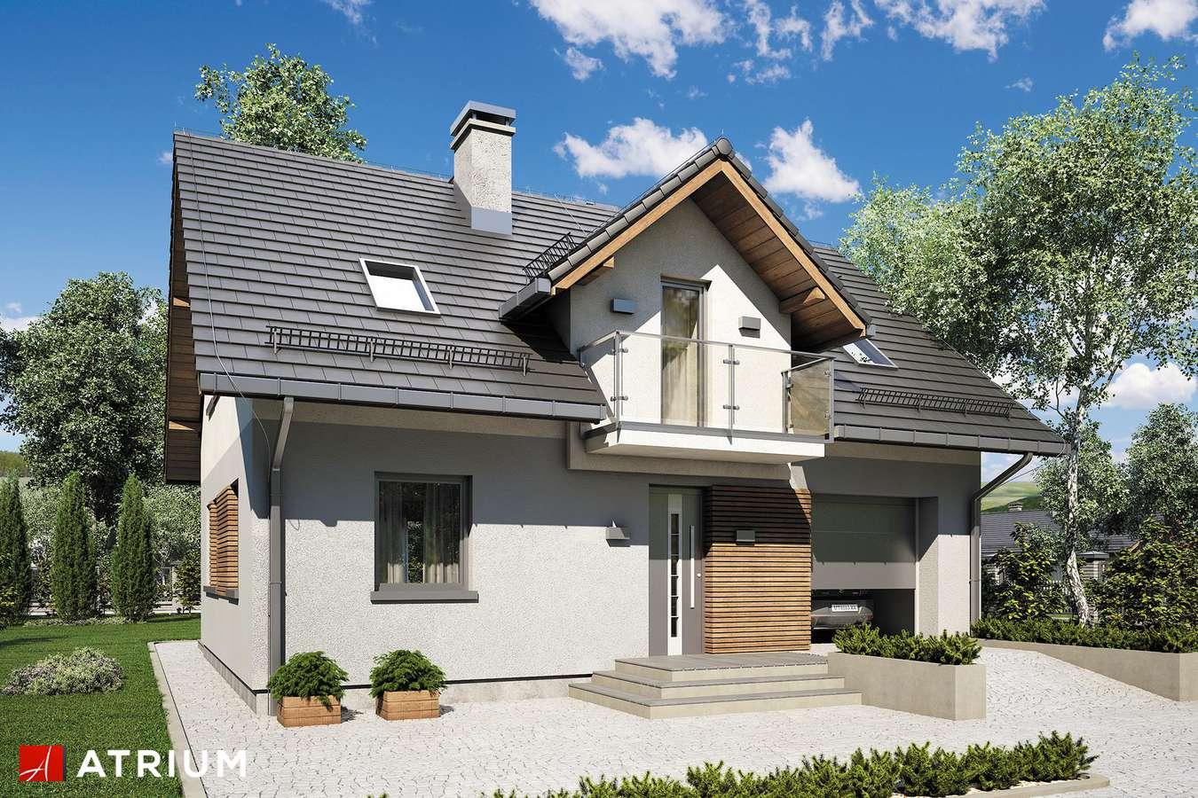 Projekty domów - Projekt domu z poddaszem COMPACT HOUSE III - wizualizacja 1 - wersja lustrzana