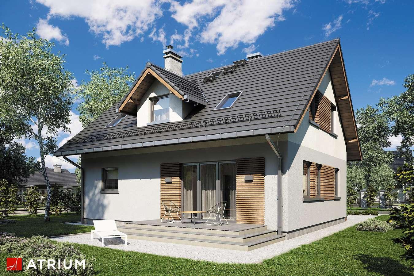 Projekty domów - Projekt domu z poddaszem COMPACT HOUSE III - wizualizacja 2 - wersja lustrzana