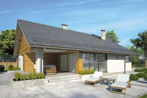 Projekt domu parterowego PLISZKA V - wizualizacja 2