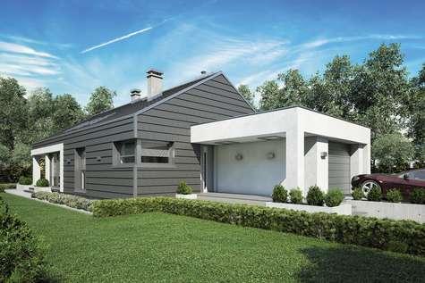 Projekt domu parterowego PELIKAN SLIM III - wizualizacja 1