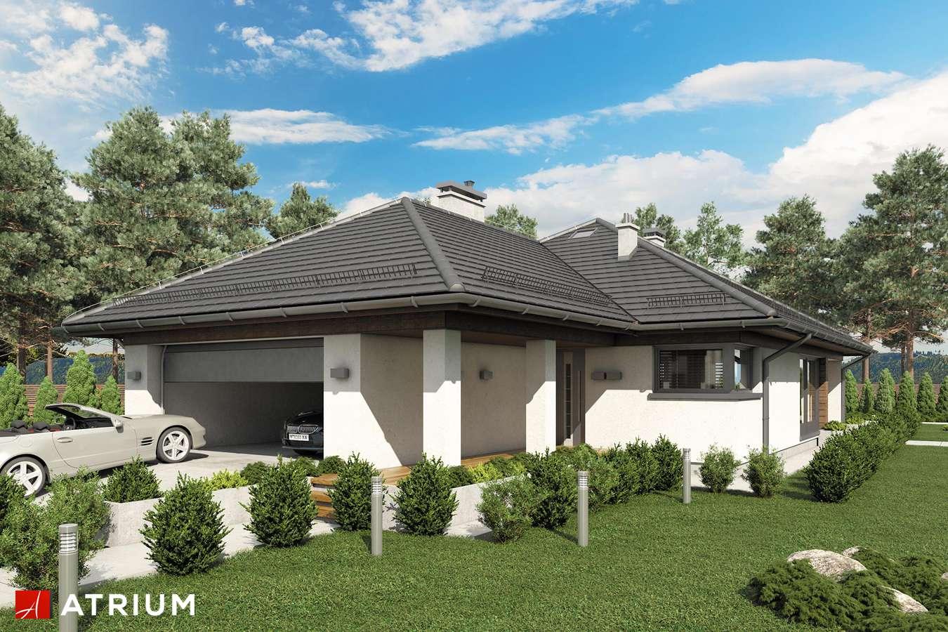 Projekty domów - Projekt domu parterowego MORGAN II - wizualizacja 1 - wersja lustrzana