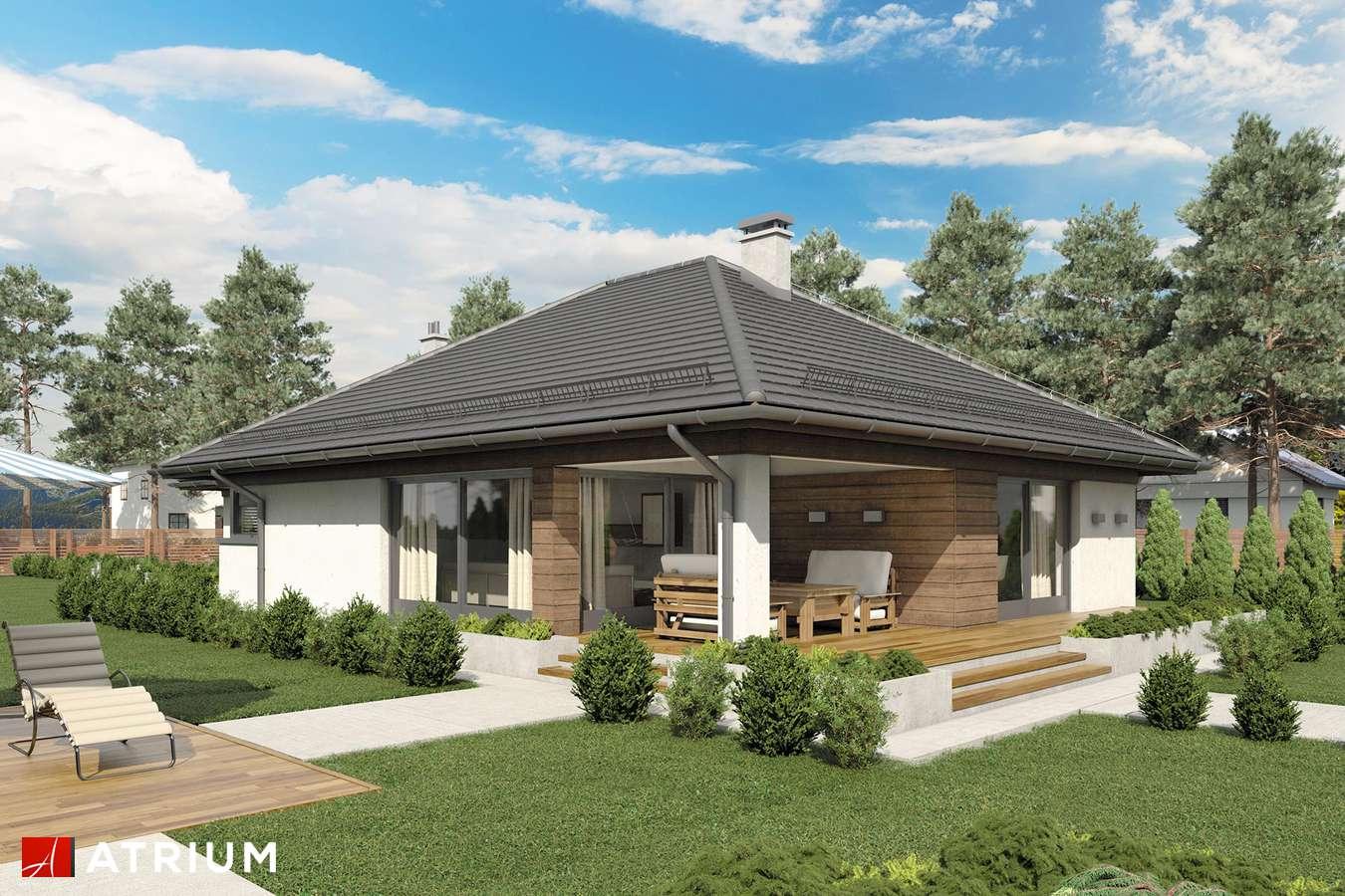 Projekty domów - Projekt domu parterowego MORGAN II - wizualizacja 2 - wersja lustrzana
