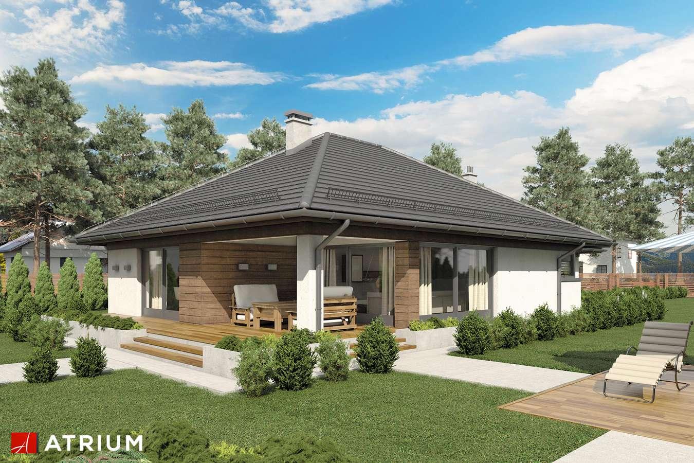 Projekty domów - Projekt domu parterowego MORGAN II - wizualizacja 2