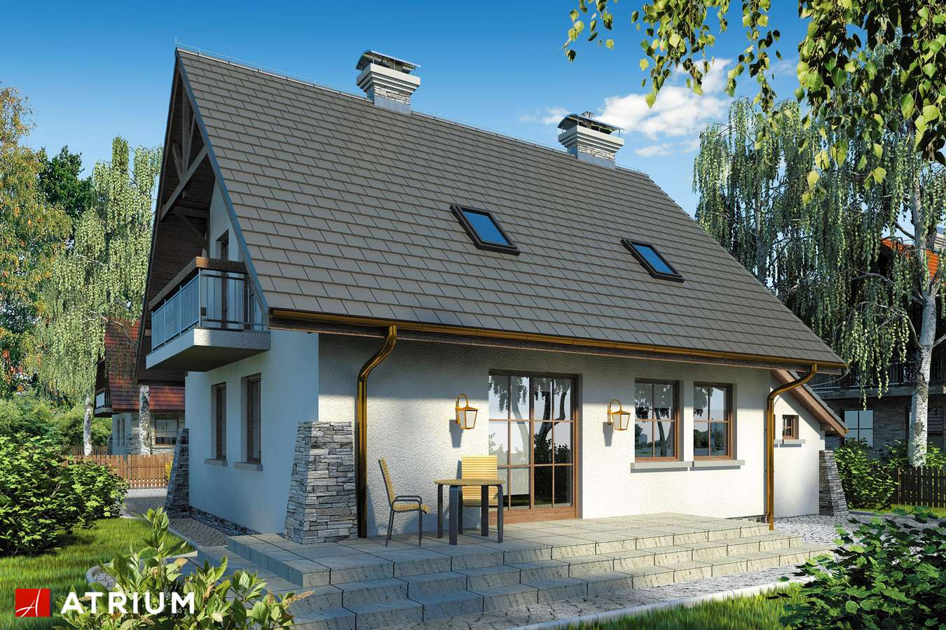 Projekty domów - Projekt domu z poddaszem ADA - wizualizacja 2