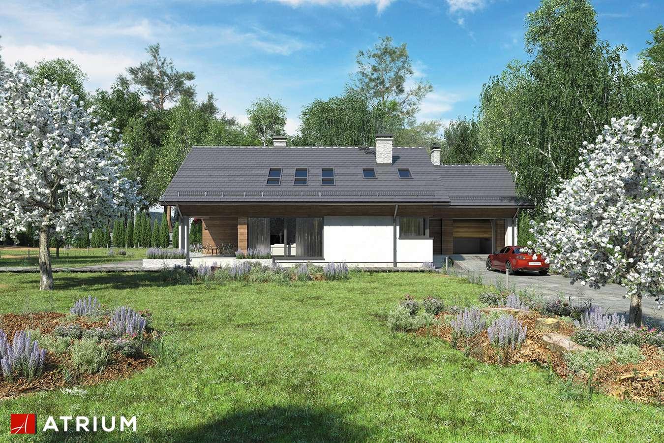 Projekty domów - Projekt domu z poddaszem KOS PLUS - wizualizacja 1