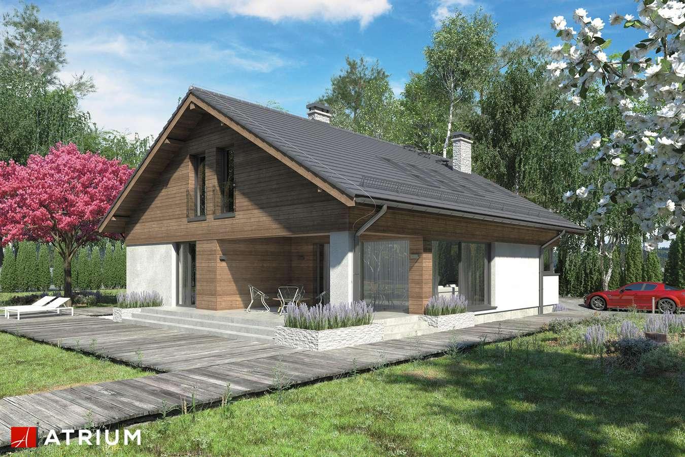 Projekty domów - Projekt domu z poddaszem KOS PLUS - wizualizacja 2
