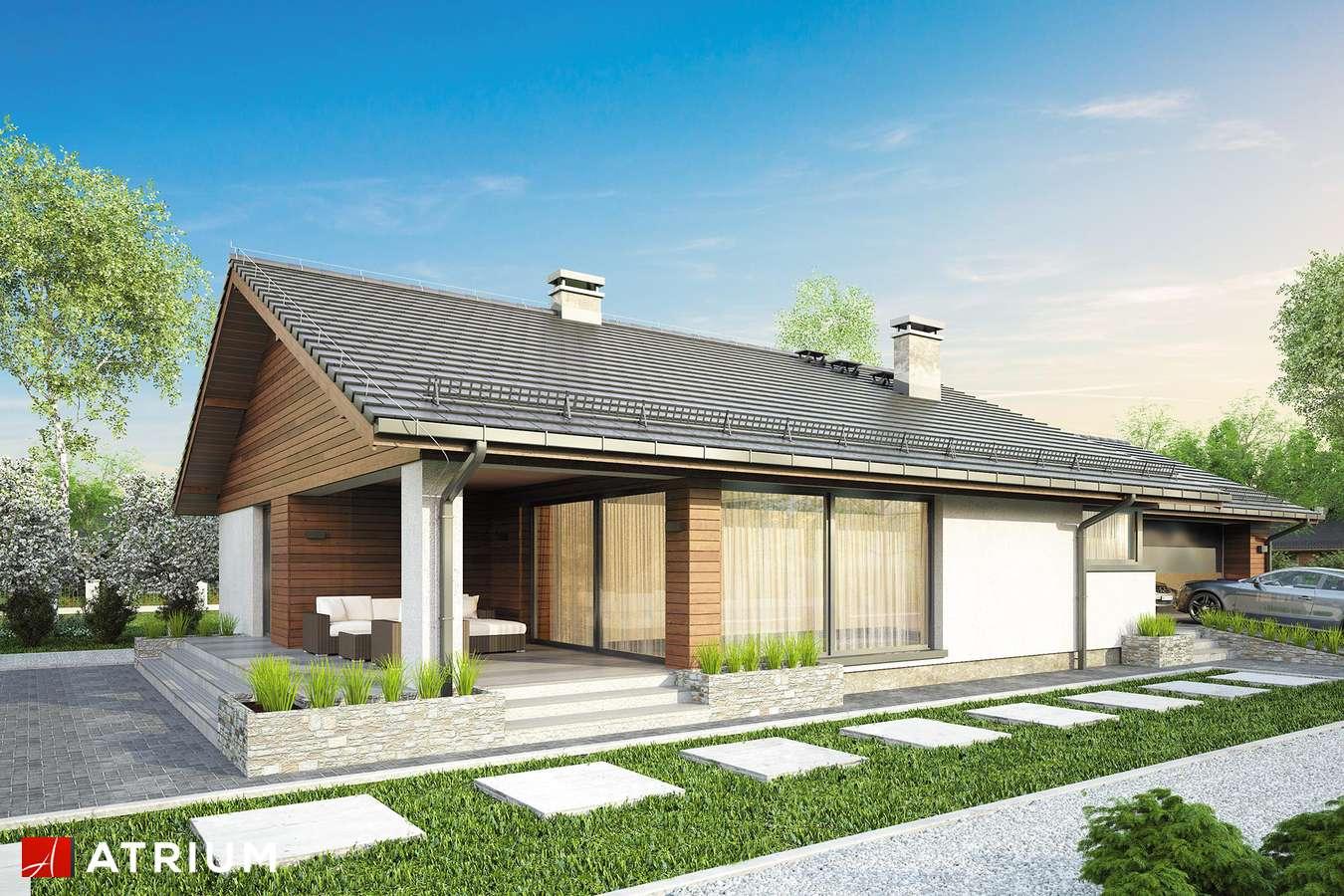 Projekty domów - Projekt domu parterowego KOS V - wizualizacja 2