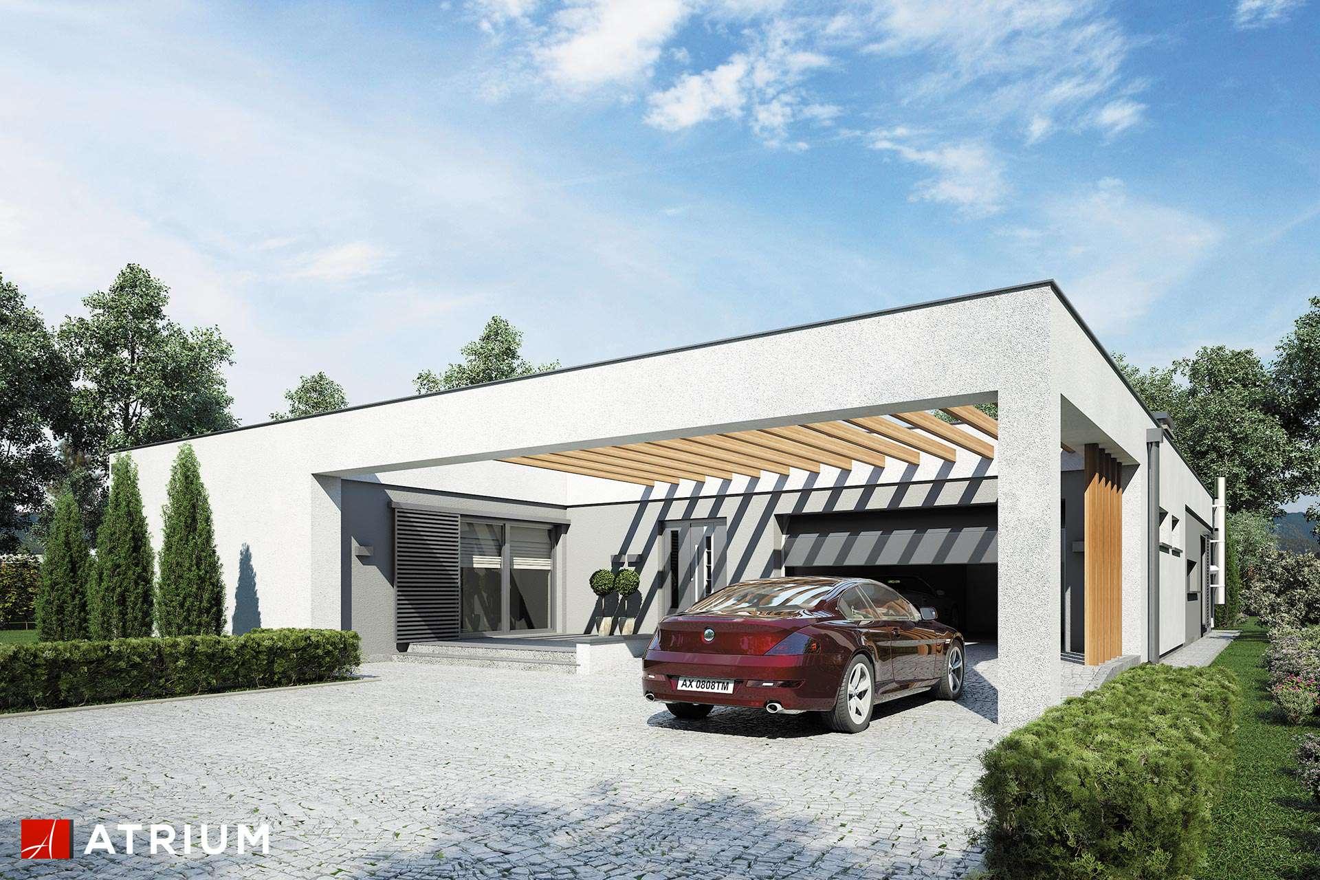 Horizontal Iii Nowoczesny Dom Z Płaskim Dachem I Garażem 2st