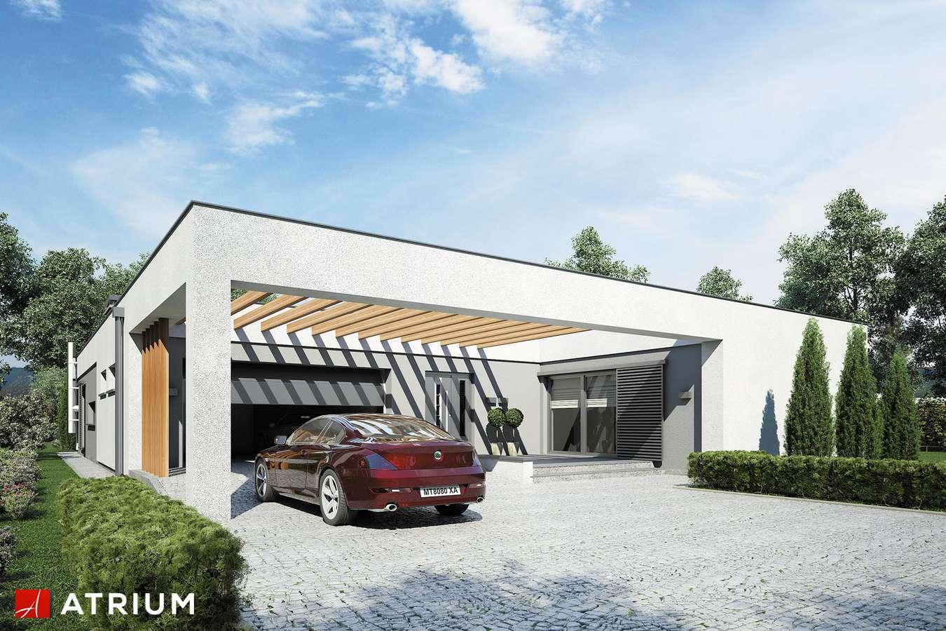 Projekty domów - Projekt domu parterowego HORIZONTAL III - wizualizacja 1 - wersja lustrzana