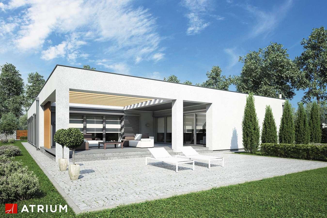 Projekty domów - Projekt domu parterowego HORIZONTAL III - wizualizacja 2 - wersja lustrzana