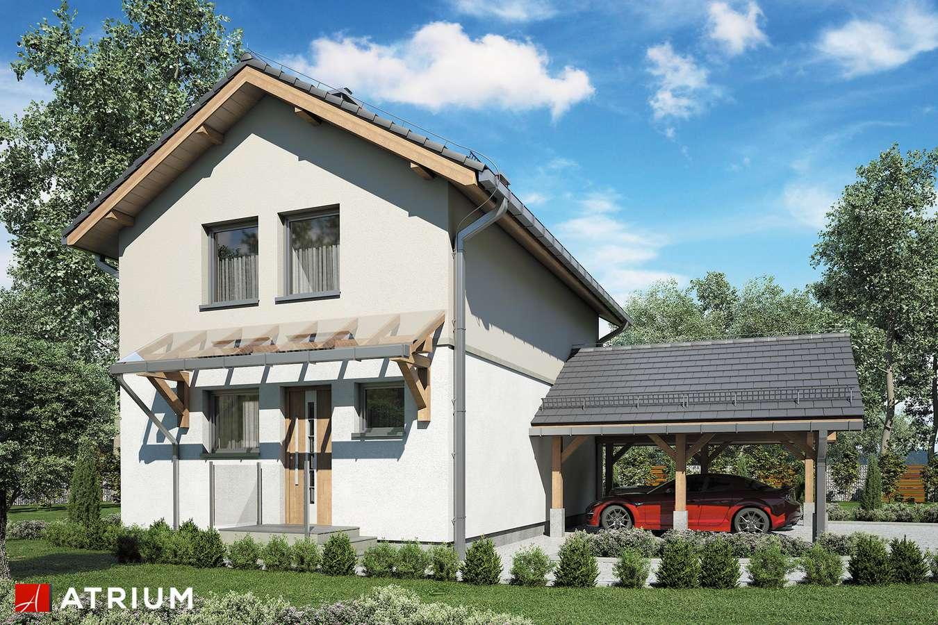 Projekty domów - Projekt domu piętrowego KAMYCZEK III - wizualizacja 1