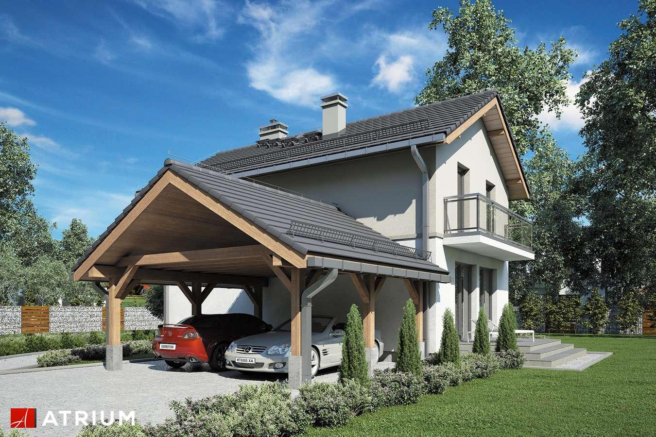 Projekty domów - Projekt domu piętrowego KAMYCZEK III - wizualizacja 2
