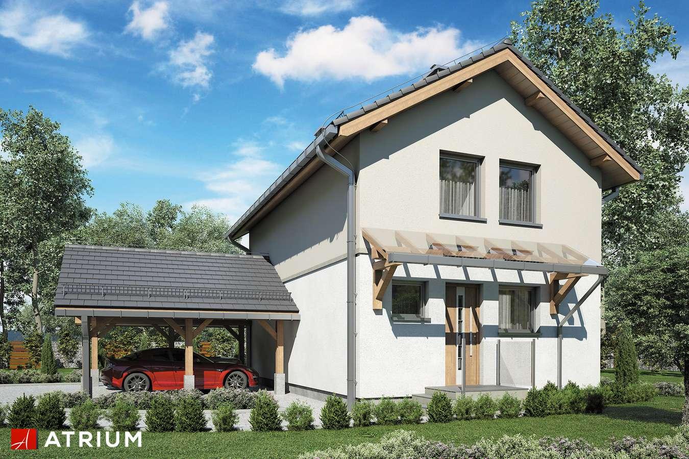 Projekty domów - Projekt domu piętrowego KAMYCZEK III - wizualizacja 1 - wersja lustrzana