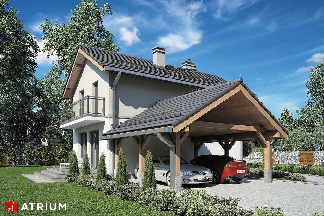 Projekty domów - Projekt domu piętrowego KAMYCZEK III - wizualizacja 2 - wersja lustrzana