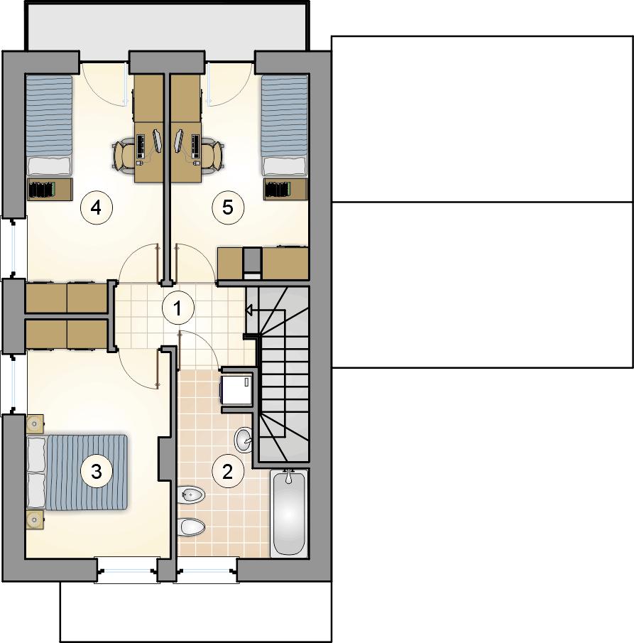 Rzut piętra - projekt Kamyczek III