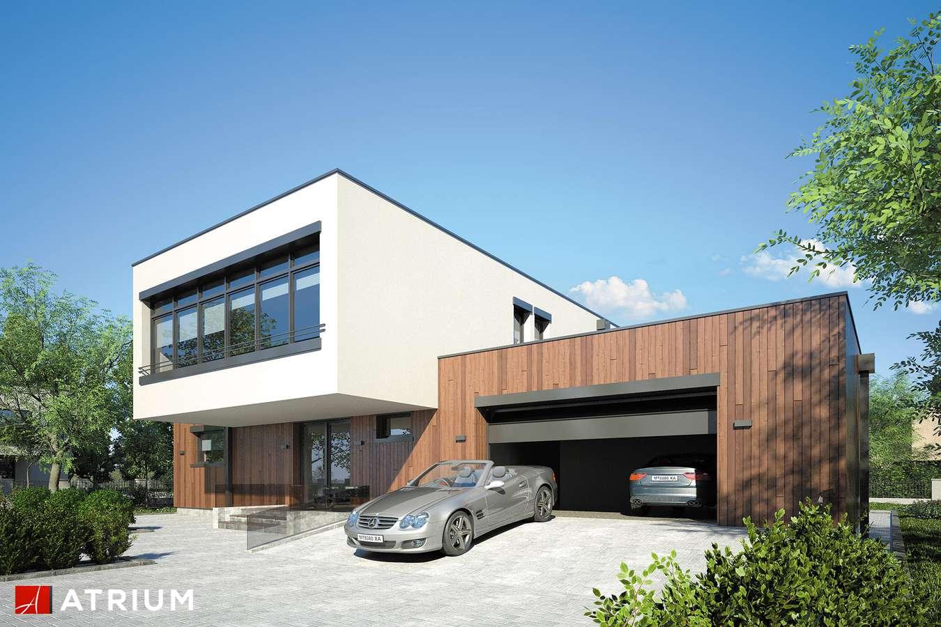 Projekty domów - Projekt domu piętrowego MALTA II - wizualizacja 1 - wersja lustrzana