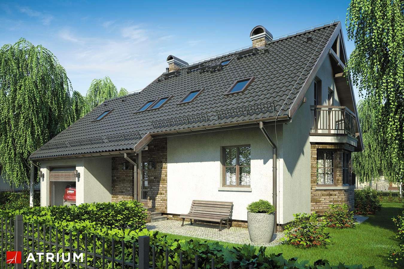 Projekty domów - Projekt domu z poddaszem FISTASZEK - wizualizacja 1