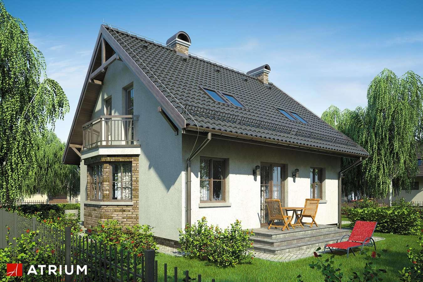 Projekty domów - Projekt domu z poddaszem FISTASZEK - wizualizacja 2