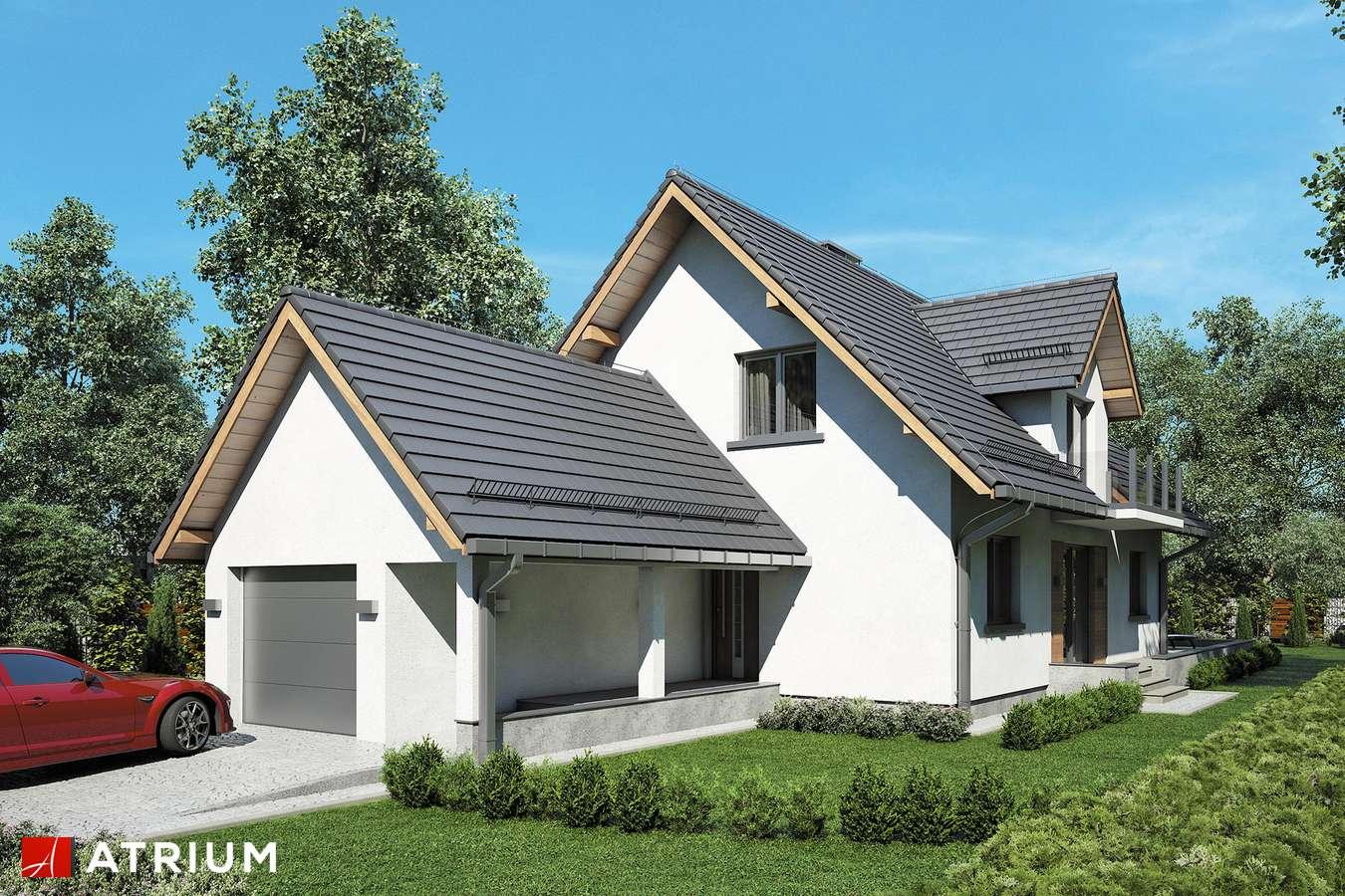 Projekty domów - Projekt domu z poddaszem RUMIANEK II - wizualizacja 1