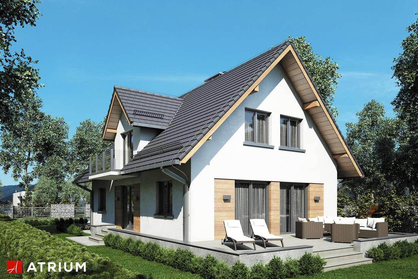 Projekty domów - Projekt domu z poddaszem RUMIANEK II - wizualizacja 2