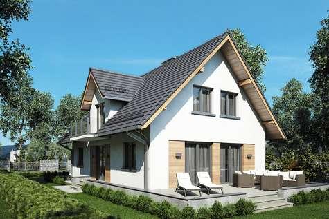 Projekt domu z poddaszem RUMIANEK II - wizualizacja 2