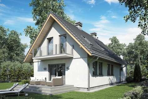 Projekt domu z poddaszem MAJA III - wizualizacja 2