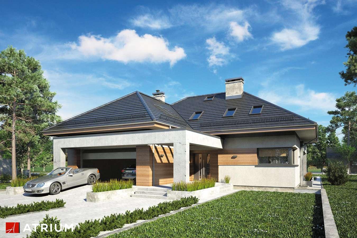 Projekty domów - Projekt domu z poddaszem CABERNET PLUS - wizualizacja 1