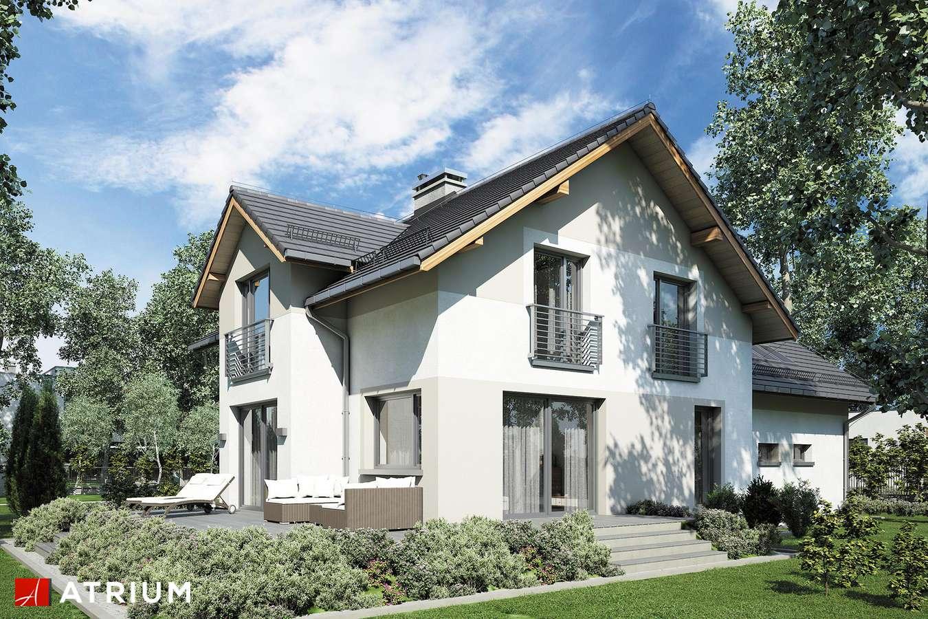 Projekty domów - Projekt domu z poddaszem JUPITER XV - wizualizacja 1