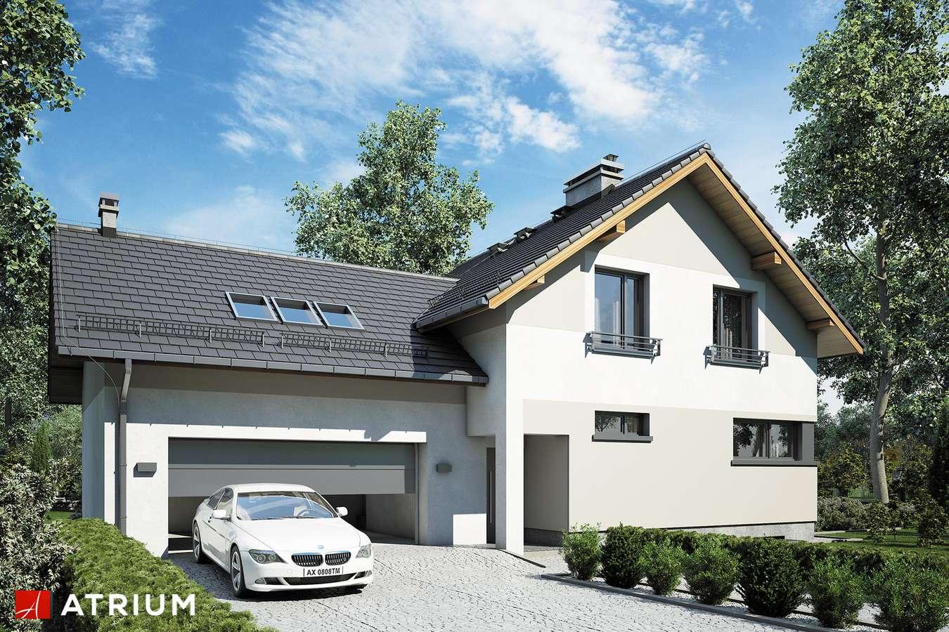 Projekty domów - Projekt domu z poddaszem JUPITER XV - wizualizacja 2