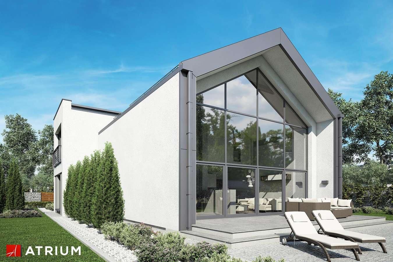 Projekty domów - Projekt domu z poddaszem VETRO - wizualizacja 2 - wersja lustrzana